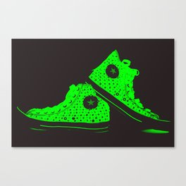 Xray Tennies Green Canvas Print