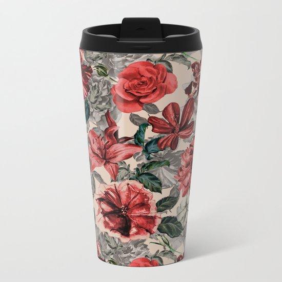 Vintage Botanic Garden Metal Travel Mug