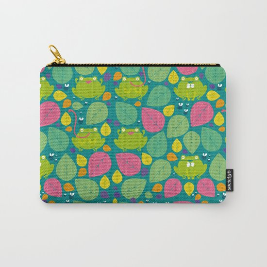 Frogs pattern Carry-All Pouch