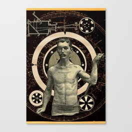 Target V01 - Newton's First Law of Astral Travel Canvas Print