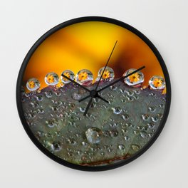 Dew Drop Flower Wall Clock