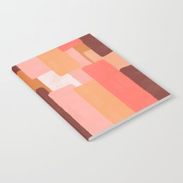 Line In Coral #society6 #abstractart Notebook