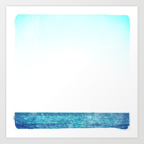 summer sail (blue) Art Print