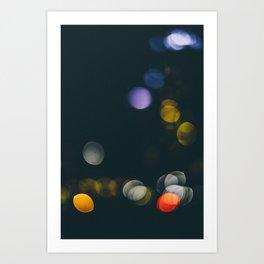 Abstract Bokeh City Art Print