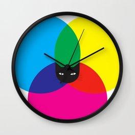 CMYKAT Wall Clock