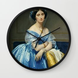 Portrat of the Princess In Blue Wall Clock