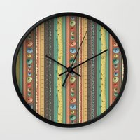 stripes Wall Clocks featuring Stripes by Catru