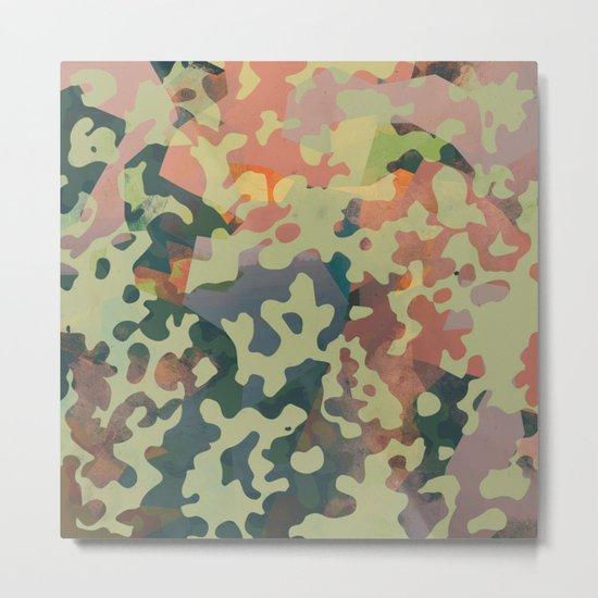 Camouflage XXXXV Metal Print