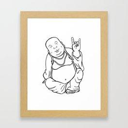 Peace, Love, and Rock n' Roll Framed Art Print