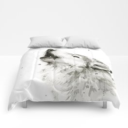 Wolf Howling Comforters