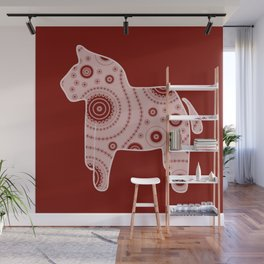 Red Horse Wall Mural