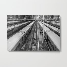 Train Storage  Metal Print