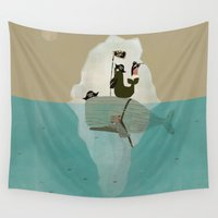 pirates Wall Tapestries featuring we are pirates too by bri.buckley