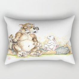 A BEAR ASKS A RABBIT A PERSONAL HYGIENE QUESTION Rectangular Pillow