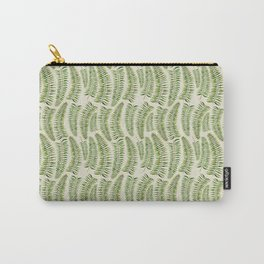 Palm leaves in tiger print Carry-All Pouch