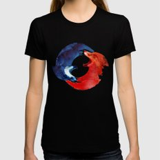 Ying yang SMALL Black Womens Fitted Tee