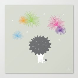 The Happy Fireworks Canvas Print