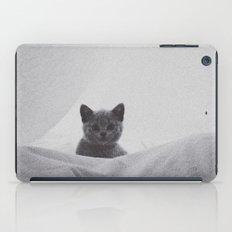 Kitten under the sheets iPad Case