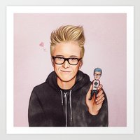 tyler oakley Art Prints featuring Tyler Oakley by The Art Of Dreams