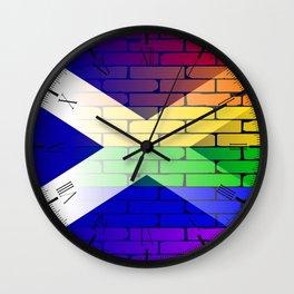 Gay Rainbow Wall Scotland Flag Wall Clock