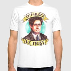 In Mulder We Trust Mens Fitted Tee White MEDIUM
