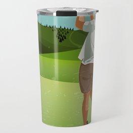 Mountain Golfer Travel Mug