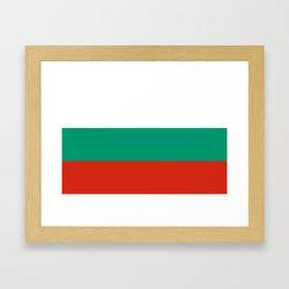 Bulgaria Flag Framed Art Print