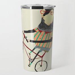 Deer on Bike.  Travel Mug