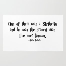 HarryPotter - He Was the Bravest Man I've Ever Known quote - HarryPotter Rug