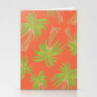 palm trees Stationery Cards featuring Palm Trees by Allyson Johnson