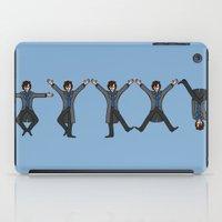 conan iPad Cases featuring Dancing Sherlock by Doodle Dojo