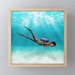 S.C.U.B.A. Diver Framed Mini Art Print