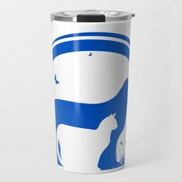 Dog and Cat and nature Silhouette Travel Mug