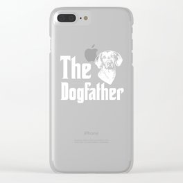 Vizsla The Dogfather Gift for Men Boys Clear iPhone Case