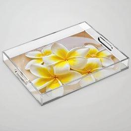 Plumeria Blossoms Acrylic Tray
