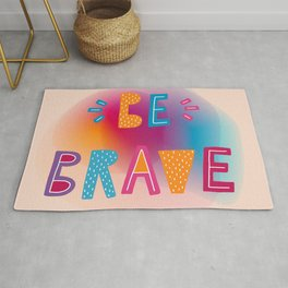 Be brave holographic Rug