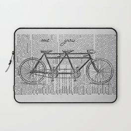 Me & You Tandem Bike Laptop Sleeve