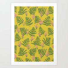 Fern & Heather Art Print