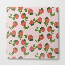 Strawberry Pink Metal Print