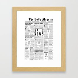 The Daily Mage Fantasy Newspaper Framed Art Print