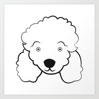poodle Art Prints featuring Poodle by anabelledubois