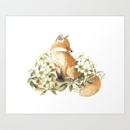 Springtime Fox Art Print