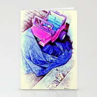 jeep Stationery Cards featuring Jeep & Tarp & Chalks by B.D.Meredith