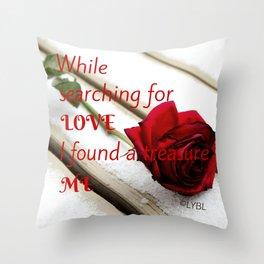 Love Yourself  Merry Christmas Edition Treasure 01 Throw Pillow