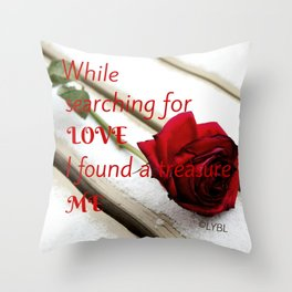Love Yourself  Merry Christmas Edition Treasure 01 Throw Pillow