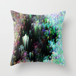 Silk Spectrum Throw Pillow
