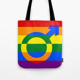 Gay Pride Rainbow Flag Boy Man Gender Male Tote Bag