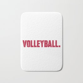 Funny volleyball graphic Eat sleep volleyball repeat Birthday Bath Mat
