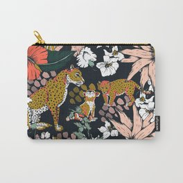 Animal print dark jungle Carry-All Pouch