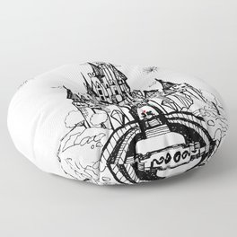 Mouse in Love Floor Pillow